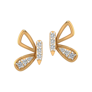 The Mystique Fly Diamond Stud Earrings