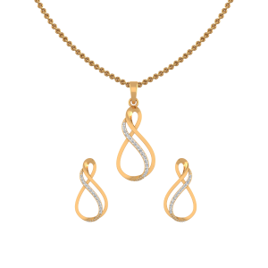 Double Punch Diamond Pendant Set