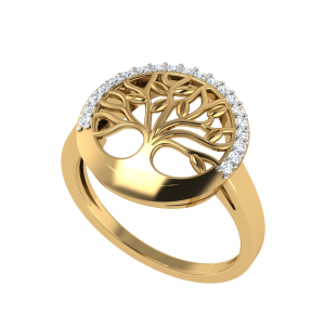 The Tree Of Life Spiritual Diamond Ring
