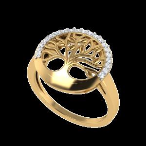 The Tree Of Life Spiritual Diamond Ring