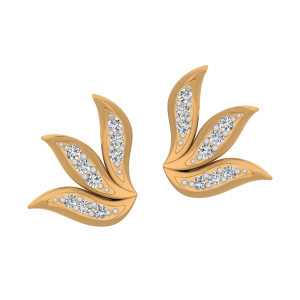 Petal Belle Diamond Stud Earrings