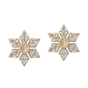 The Floral Act Diamond Stud Earrings