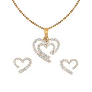 Way To Heart Diamond Pendant Set
