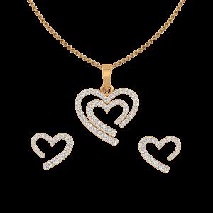 Way To Heart Diamond Pendant Set