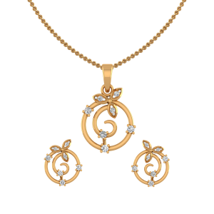 Ripple Club Diamond Pendant Set