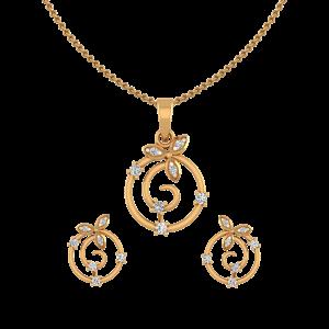 Ripple Club Diamond Pendant Set