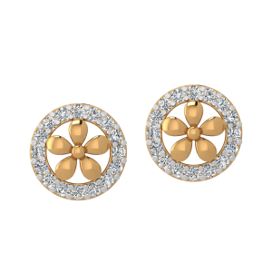 Gorgeous Bloom Diamond Stud Earrings