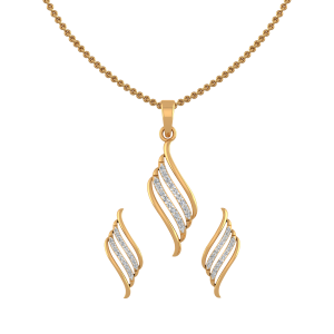 The Stripe Play Diamond Pendant Set