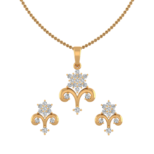 The Crown Diamond Pendant Set