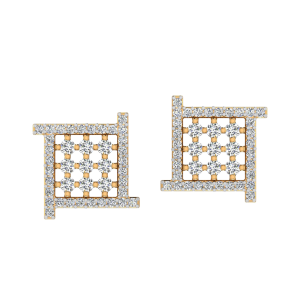 The Edgy Maze Diamond Stud Earrings