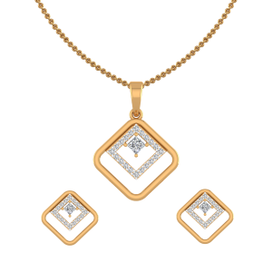The Bohemian Diamond Pendant Set