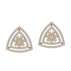 The Geometrical Game Diamond Stud Earrings