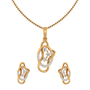 Swirl Replay Diamond Pendant Set