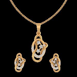 Swirl Replay Diamond Pendant Set