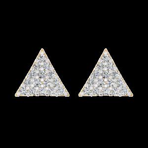 The Trillion Theatrics Diamond Stud Earrings