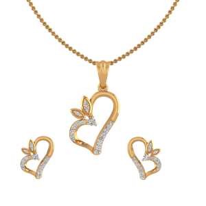 The Heart Bash Diamond Pendant Set