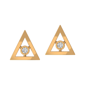 The Triangle Pair Diamond Stud Earrings