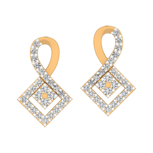 The Quad Aura Diamond Stud Earrings