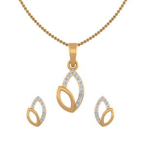Spring Bling Diamond Pendant Set