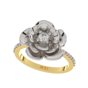 The Flora Solitaire Gold Diamond Ring