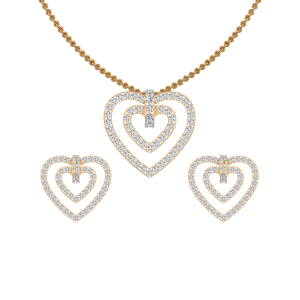 Love N Soul Diamond Pendant Set