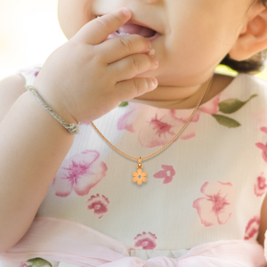 Cute Flower Diamond Kids Pendant