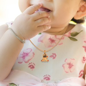Cute Panda Diamond Kids Pendant