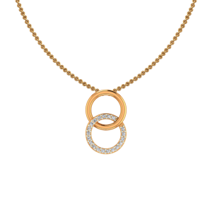 The Golden Loops Gold Diamond Pendant