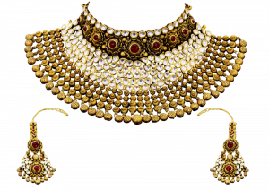 Princess Gold Polki & Diamond Necklace