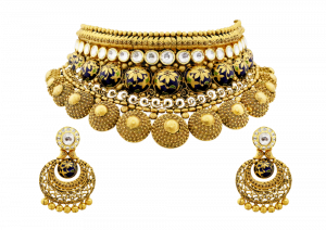Royal Round Necklace & Earrings Set