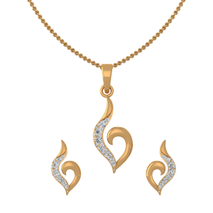 Goldtastic Diamond Pendant Set