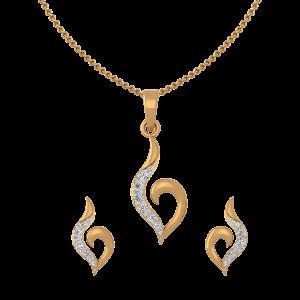 Goldtastic Diamond Pendant Set