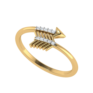 Point Blank Arrow Diamond Ring