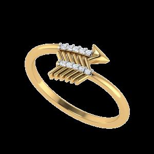 Point Blank Arrow Diamond Ring