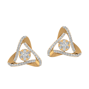 Dramatic Moves Diamond Stud Earrings