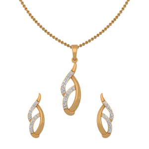 Beauty Queen Diamond Pendant Set