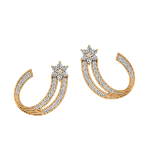 The Wonderful Stars Diamond Stud Earrings