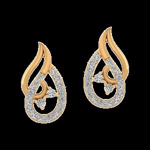 The Rhythm Divine Diamond Stud Earrings