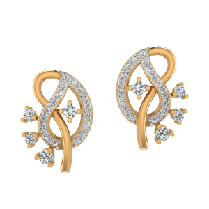 Paisley Redefined Diamond Stud Earrings