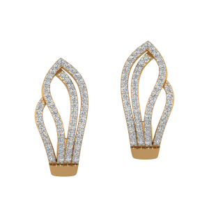 Lure Of Flames Diamond Stud Earrings