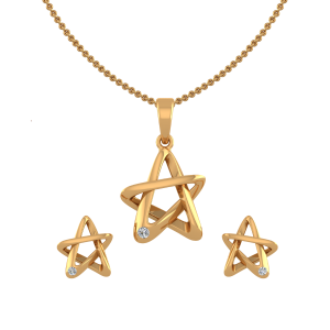 Twinkle Star Diamond Pendant Set