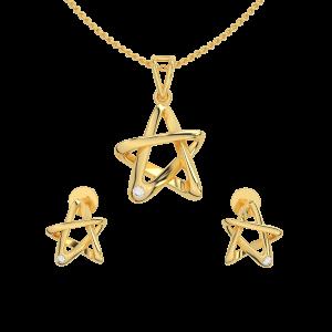 Twinkle Star Diamond Pendant Set