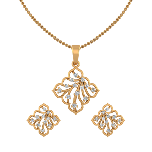 Lovely Flair Diamond Pendant Set