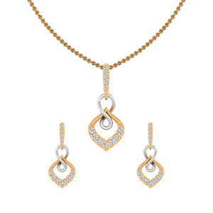 Golden Rhyme Diamond Pendant Set