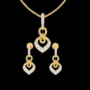 Golden Rhyme Diamond Pendant Set