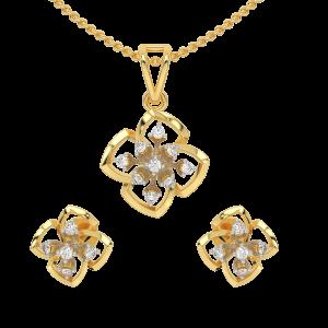 The Dramatic Flower Diamond Pendant Set