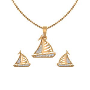 The Voyage Diamond Pendant Set