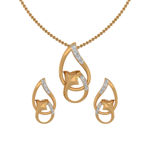 Dual Play Diamond Pendant Set
