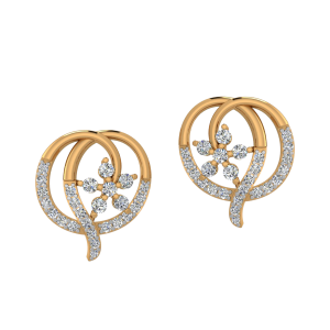 Quick Pick Up Diamond Stud Earrings