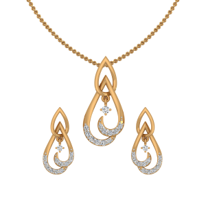Wonder Drop Diamond Pendant Set